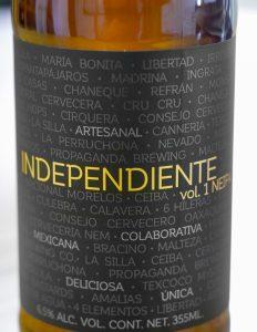 Cerveza INDEPENDIENTE vol. 1, Una gran colaboración entre cerveceros mexicanos
